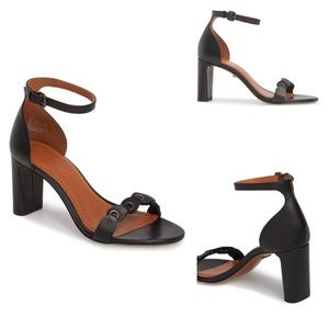 COACH Link Ankle Strap Sandal
